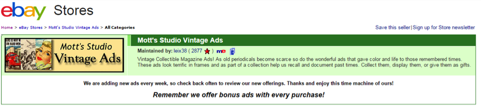 EBay Store Title