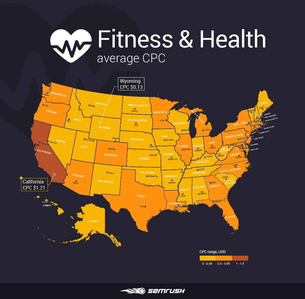 Most and least expensive states to advertise in - Fitness & Health