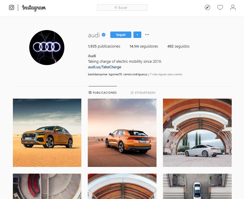Likes en Instagram - Audi