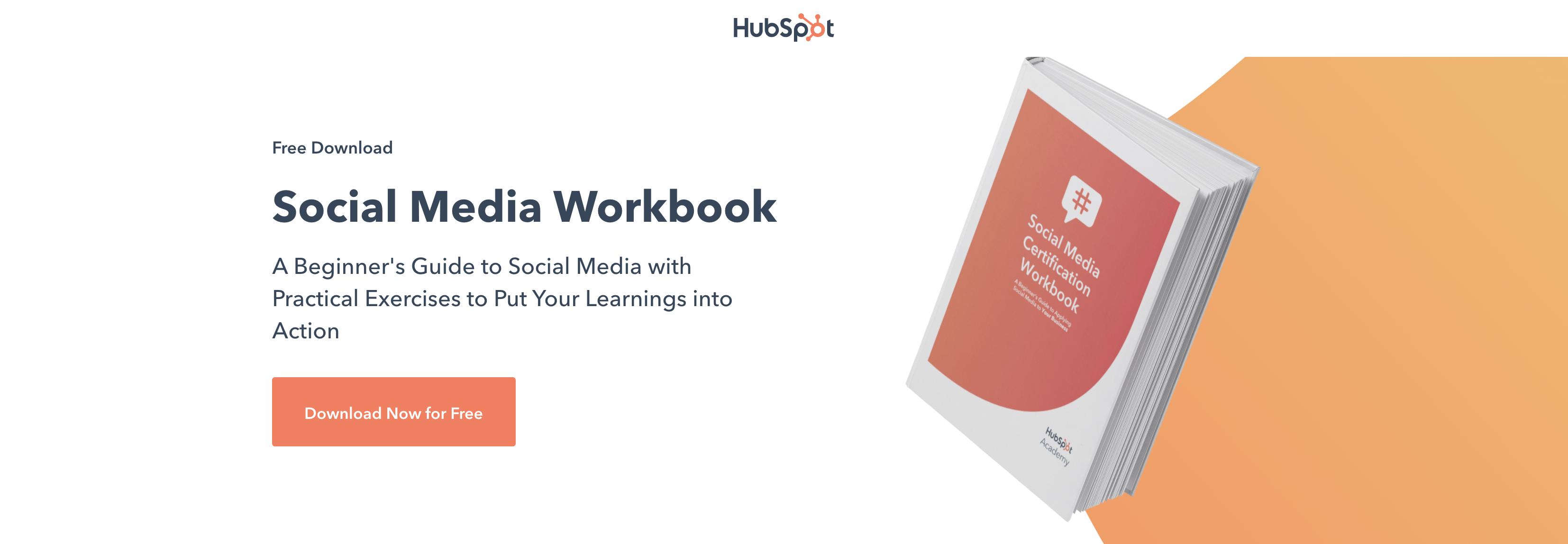 HubSpot Social Mediao Workbook Whitepaper