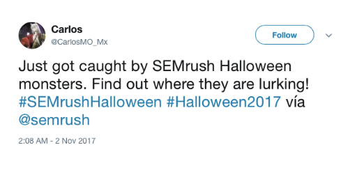 SEMrush Halloween monsters