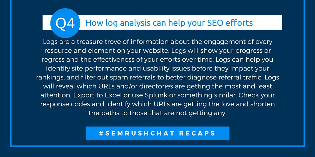 How log anaysis can help your SEO efforts
