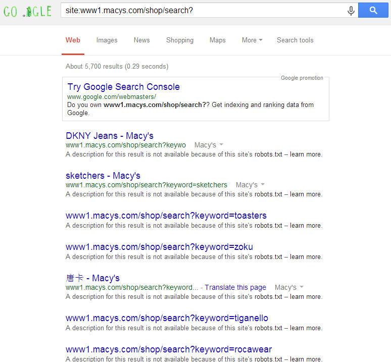 Macys on Google