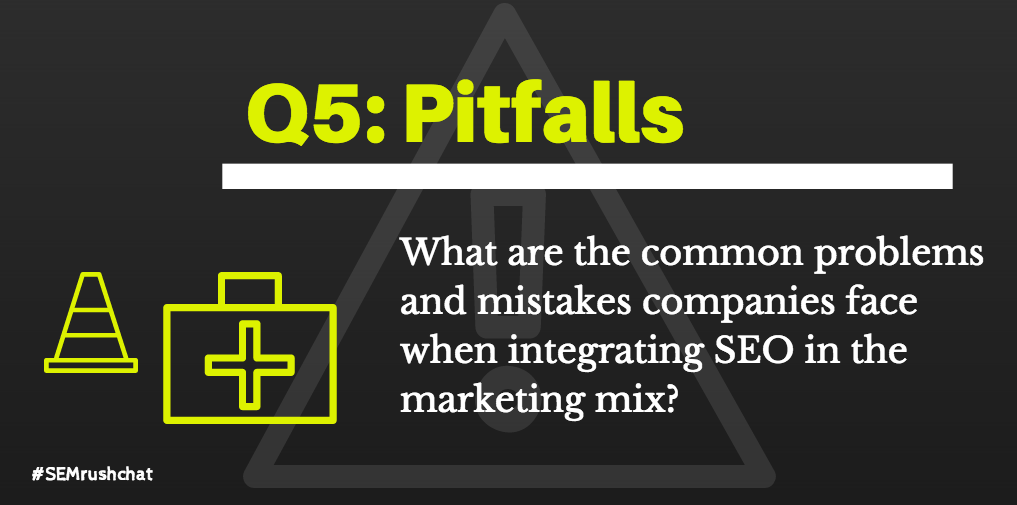 What are some common problems and mistakes companies face when integrating SEO into the marketing mix