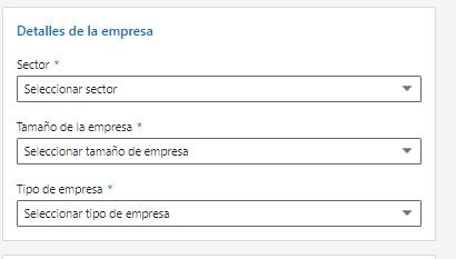 Páginas de empresas en LinkedIn - Información corporativa