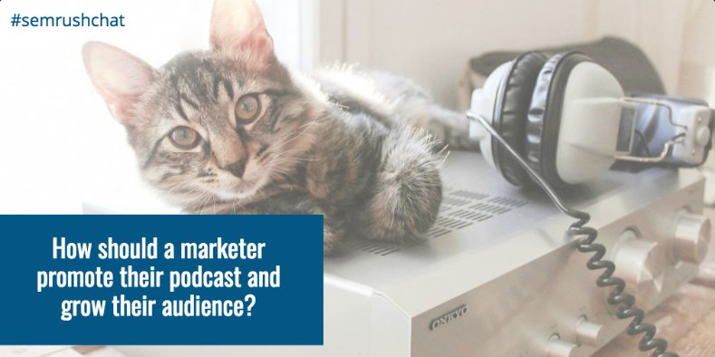 How should a marketer promote their podcast and grow their audince