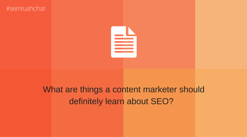What are things a content marketer should definitely know about SEO?