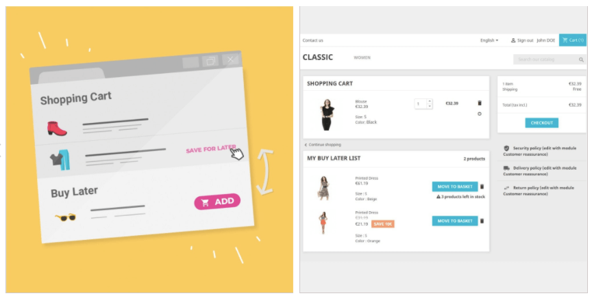 Prestashop Addons: Modulo Buy Later