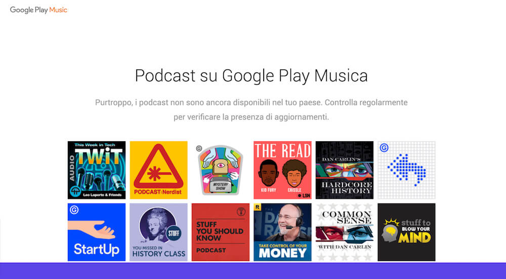 La directory dei Podcast di Google ancora non disponibile in Italia