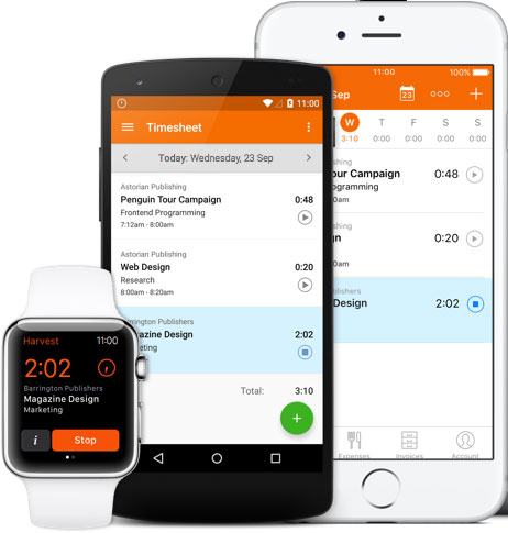 Per gestire i tuoi progetti in mobilità: la App di time tracking di Harvest