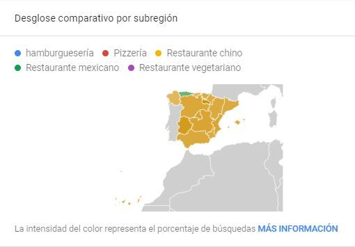 Plan de marketing para restaurantes de comida rápida - Trends subregiones