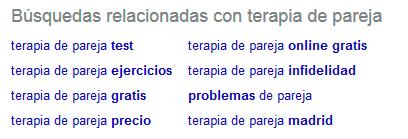 Micronichos - Búsquedas relacionadas Google