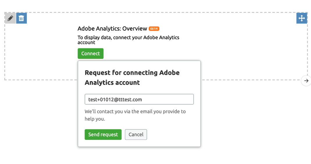 Widget Adobe Analytics dans My Reports