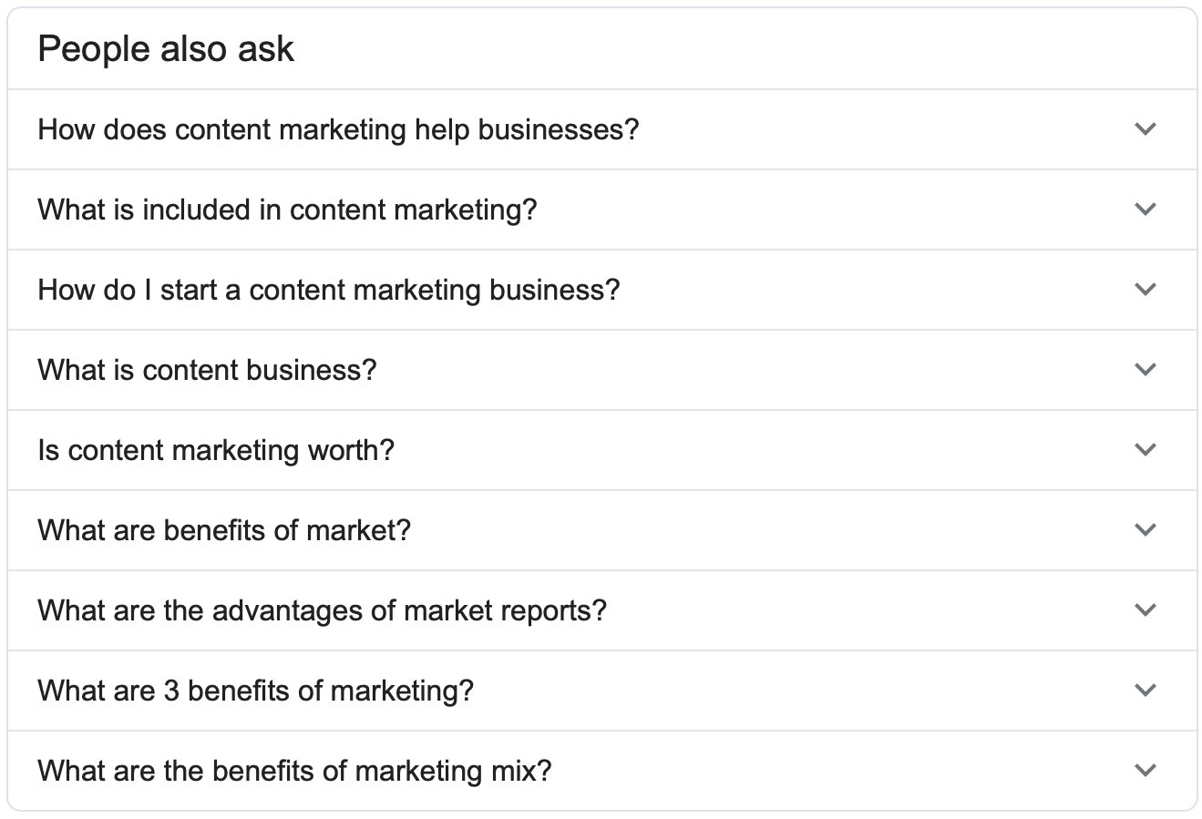 Expanding Google's People Also Ask by clicking questions