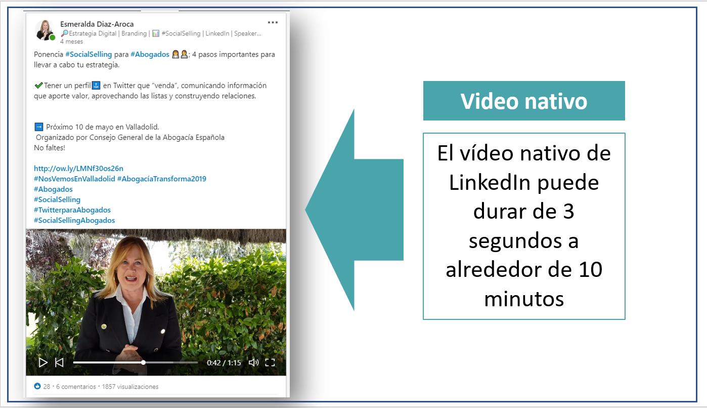Estrategias de contenidos en LinkedIn - Video nativo