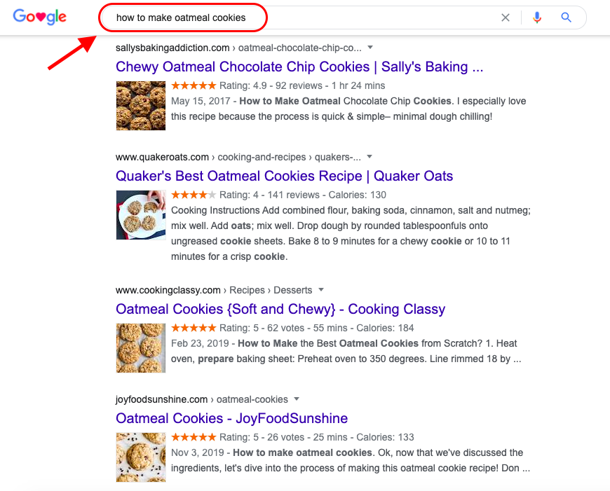 Search Intent Example - Informational Intent