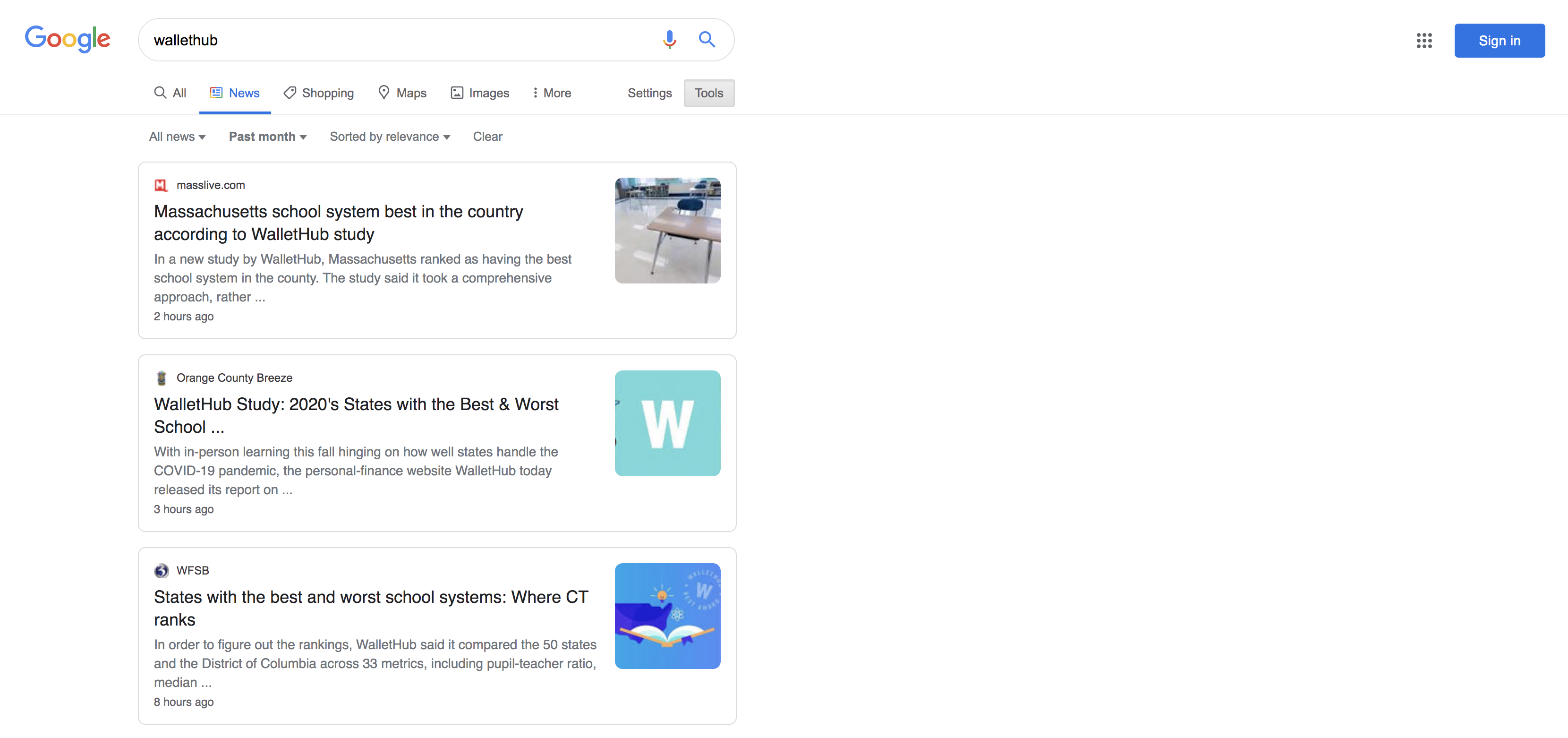 WalletHub Google News