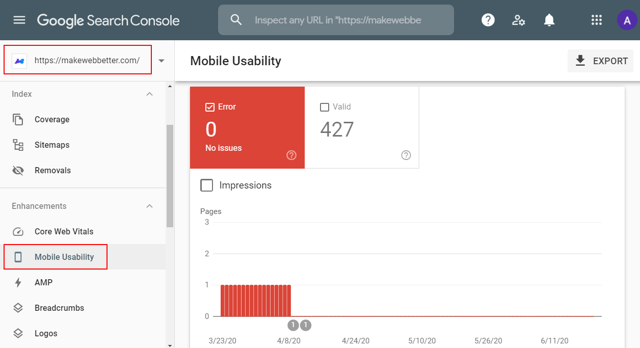 Google mobile usability test results