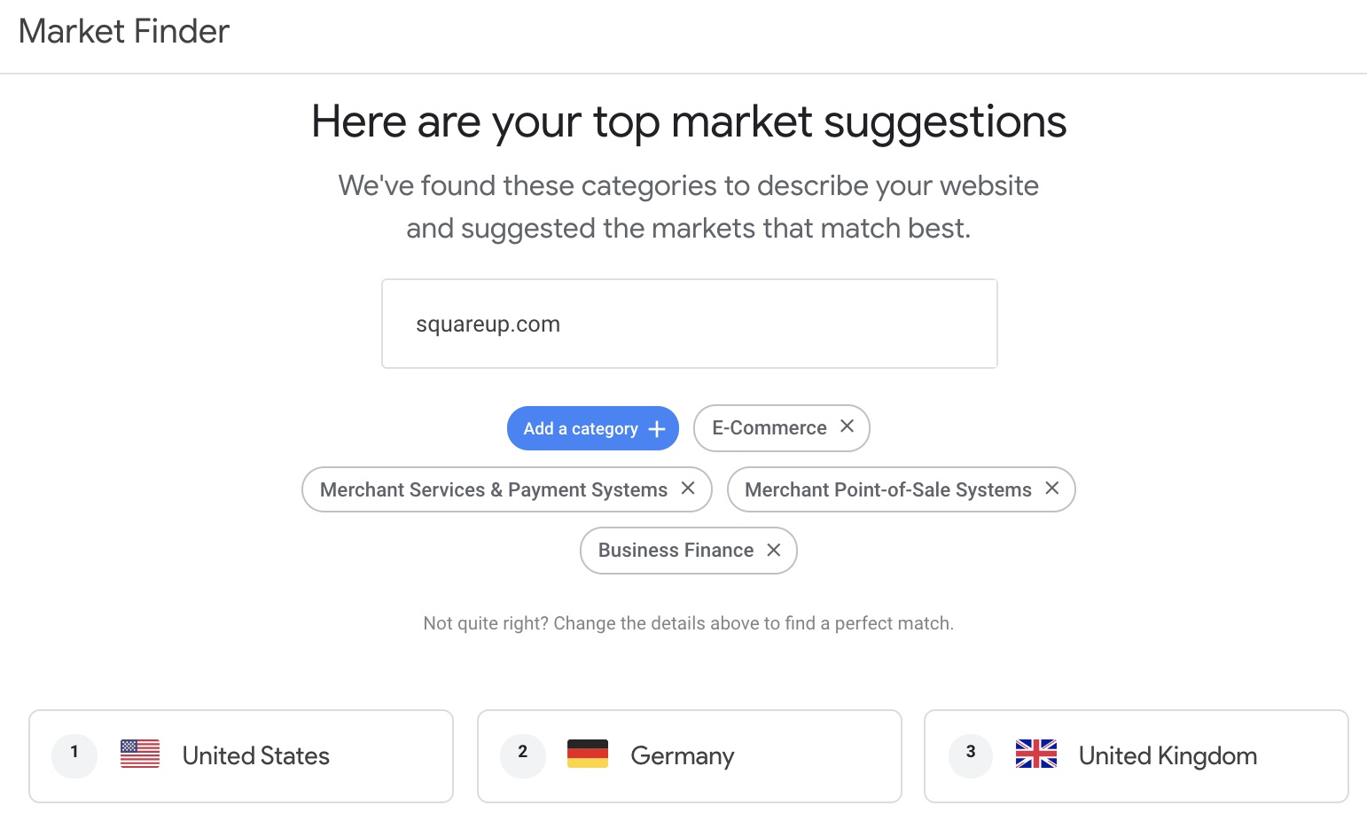 google market finder
