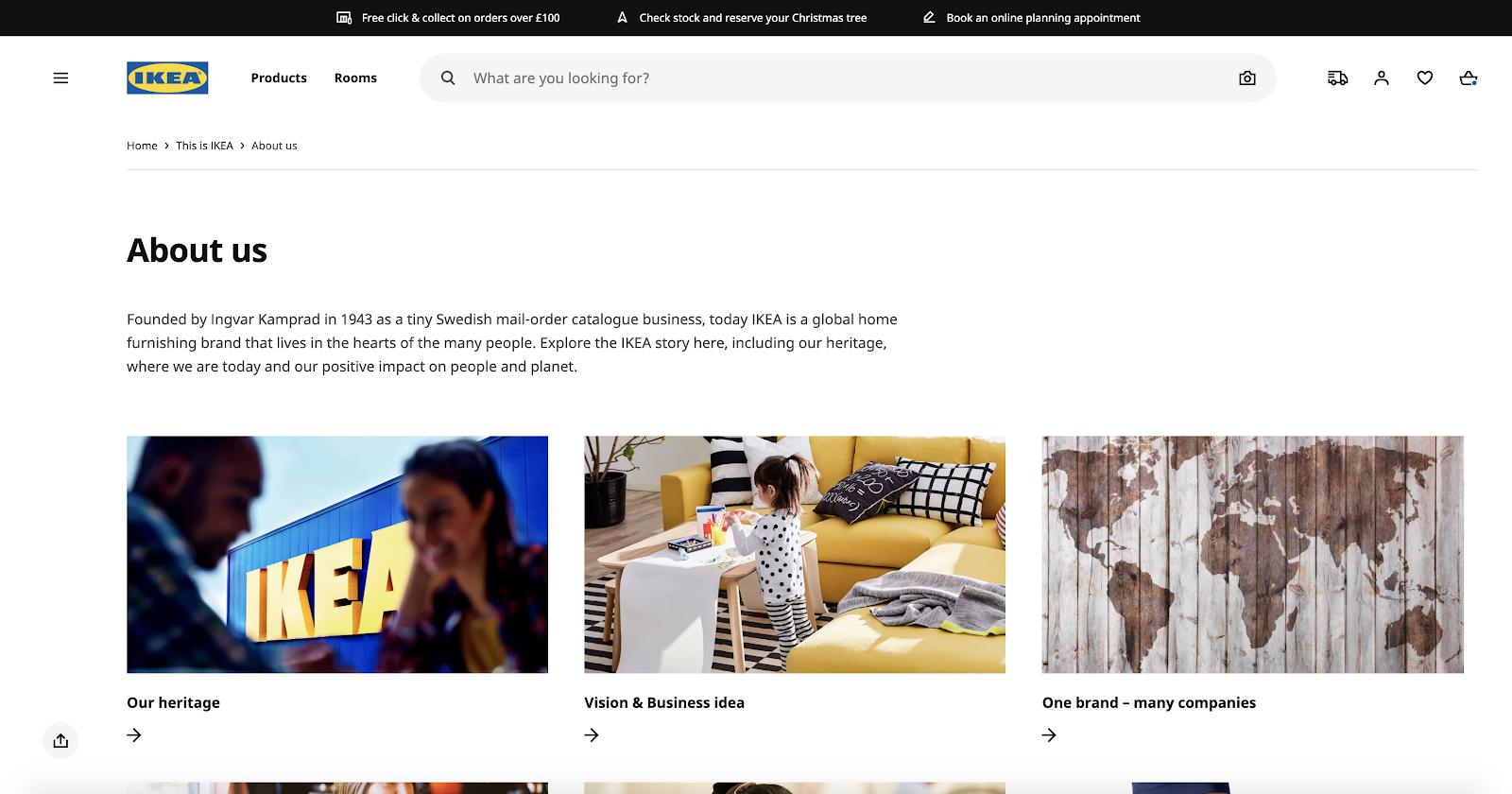 IKEA English site