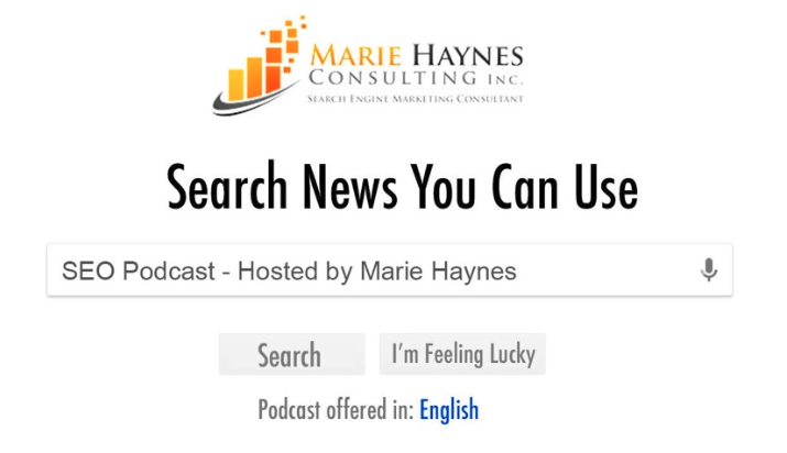 Search News You Can Use SEO podcast by Marie Haynes