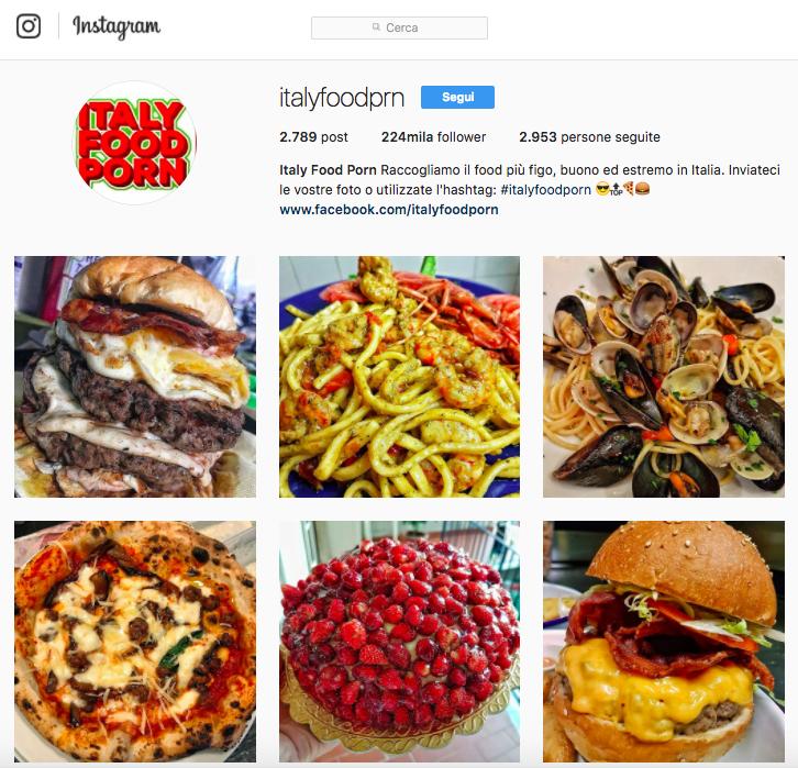 Lasciati ispirare dall'account Instagram: Italy food Porn