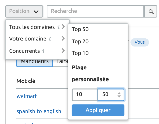 Analyse concurrentielle : Mots clés et Backlinks. Image 6