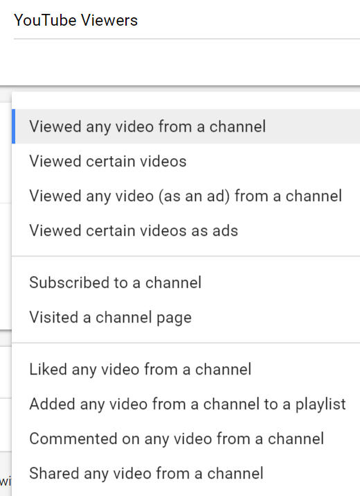 video audience options
