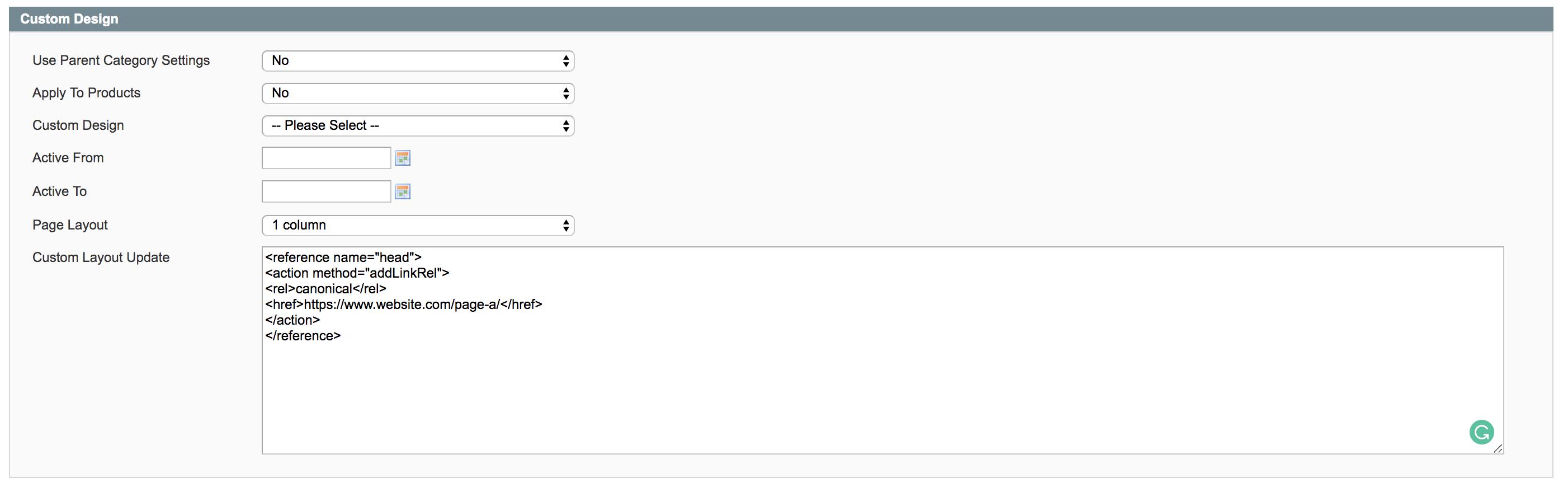 Canonical des pages produits sur Magento