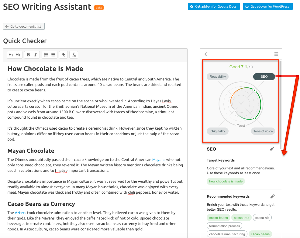 SEO Writing Assistant Without Leaving SEMrush