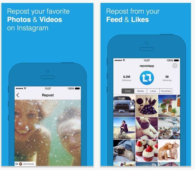 Apps para Instagram: Repost