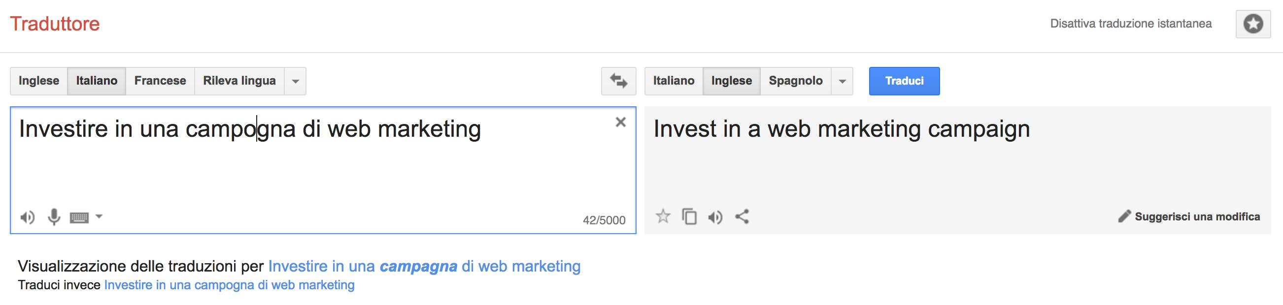 Esperimenti sulle risposte di Google Translate per la SEO Copywriting