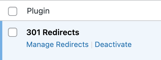 redirection wordpress