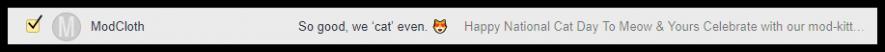 Uso emoji negli oggetti delle mail, esempio: ModCloth