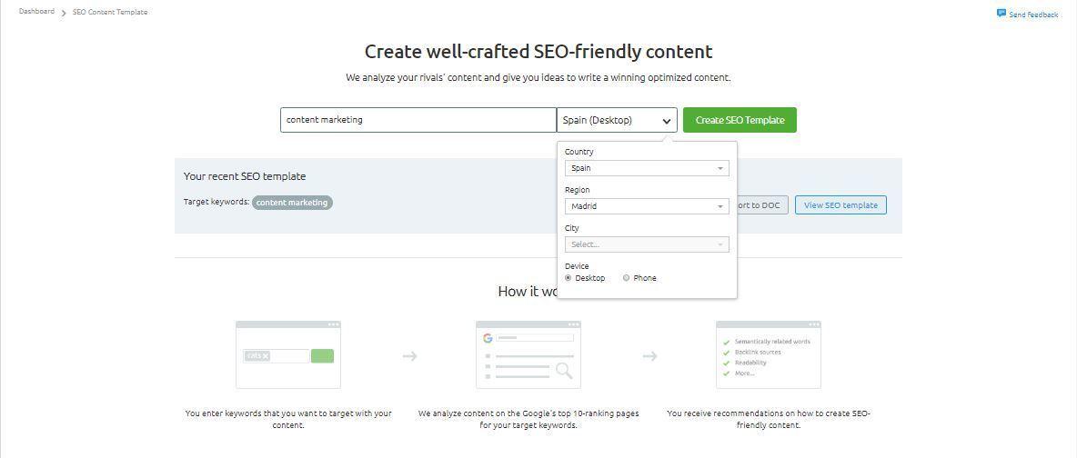 Extensión de contenidos - SEO Content Template inicio