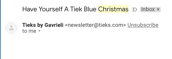 holiday email subject line