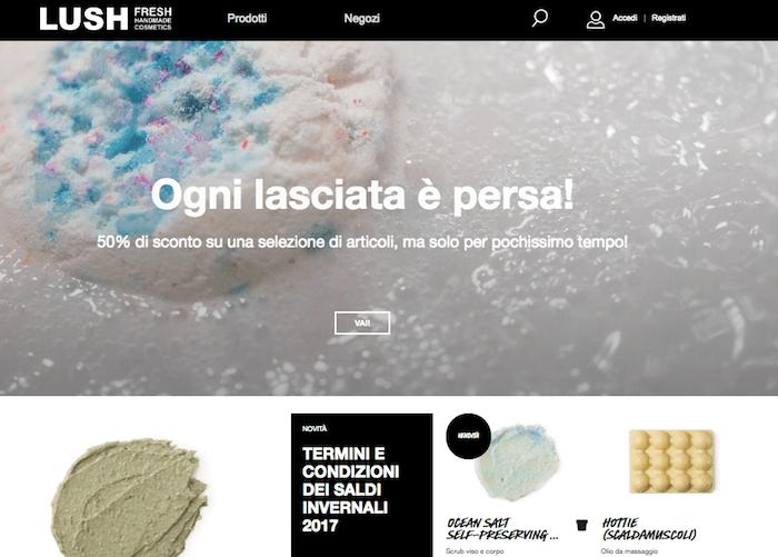 Strategie di vendita online: l'e-commerce di Lush per il mercato italiano