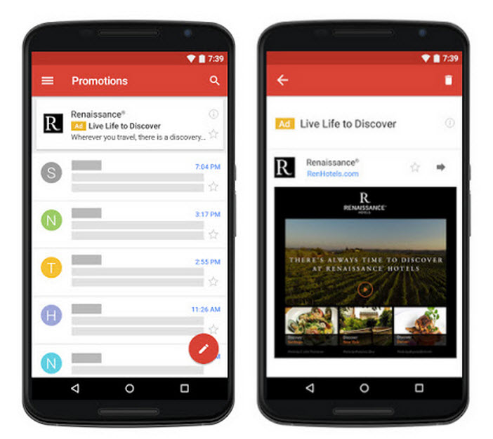 Mobile Gmail Native Advertising