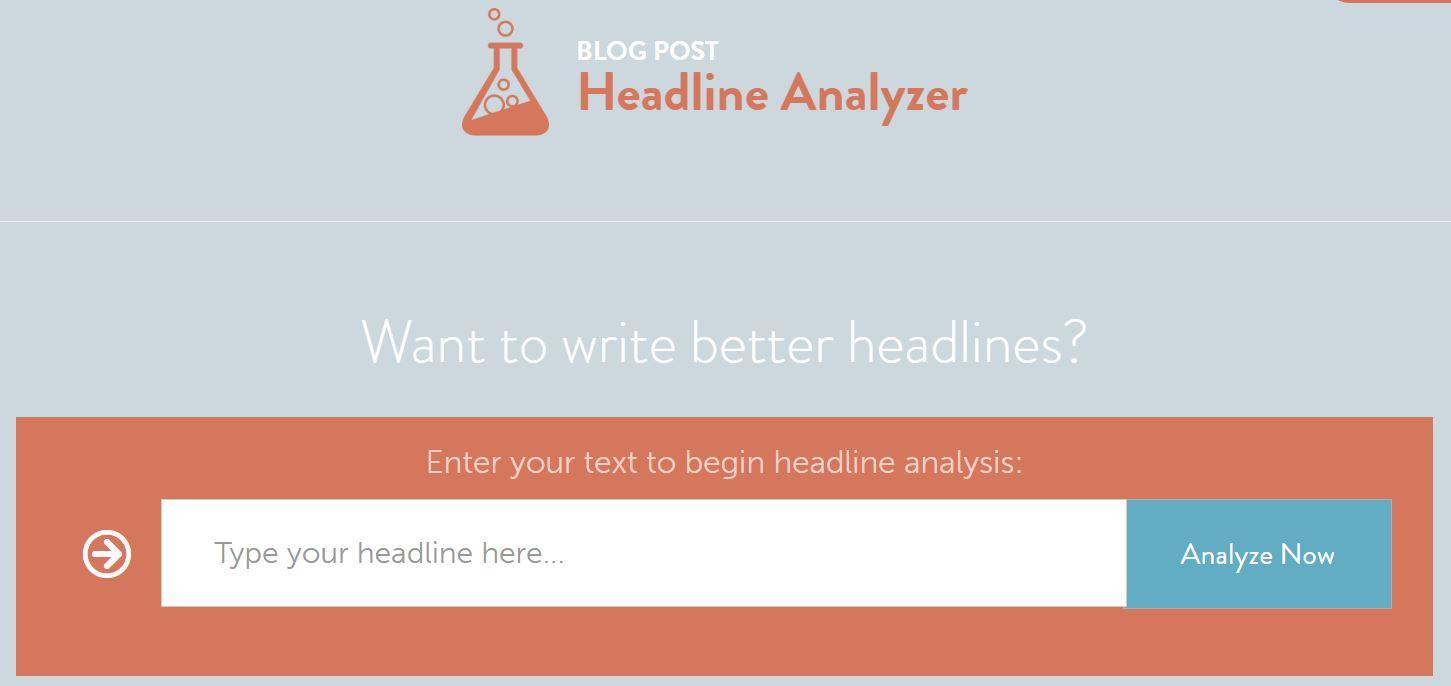 CoSchedule's Headline Analyzer