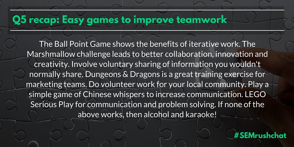 Easy games to improve teamwork
