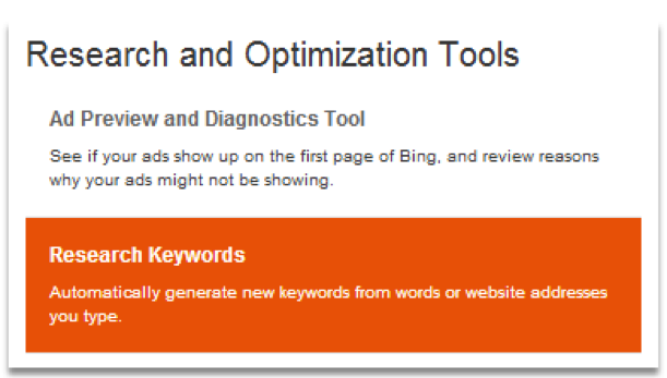 Research and Optimization Tools