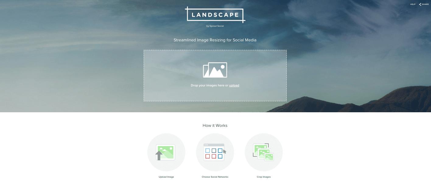 Piano editoriale per social media: il tool Landscape