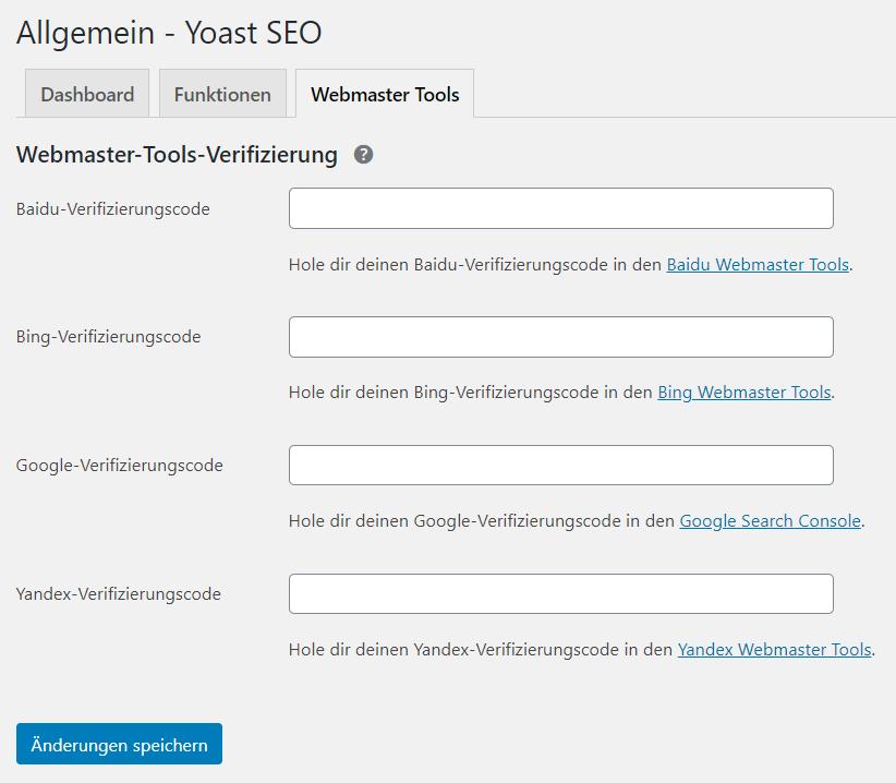 Website in Google Search Console verifizieren