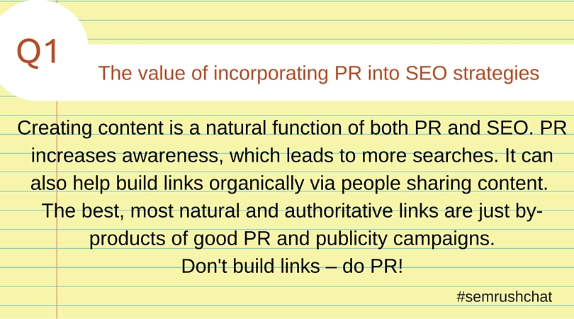 The value of incorporating PR into SEO strategies