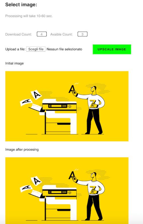 image up scaler strumento di marketing per ridurre immagini