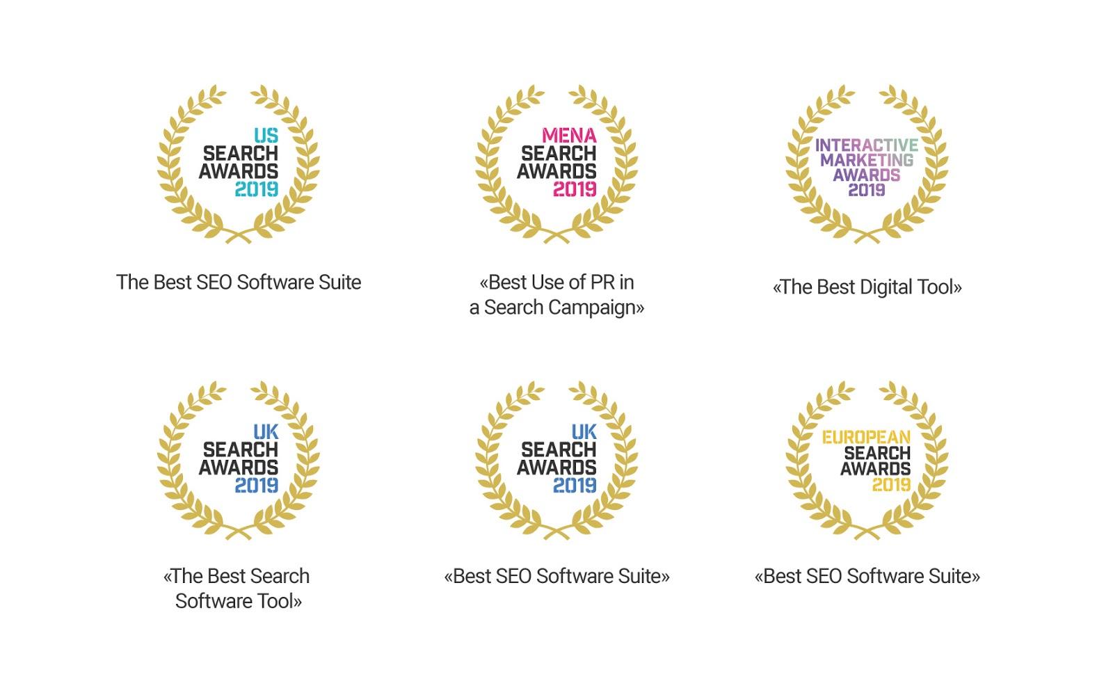 Actualizaciones top de SEMrush - Premios ganados