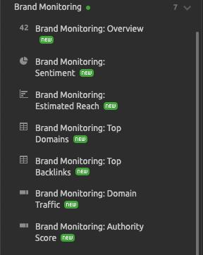 Novedades de SEMrush de octubre 2019 - Brand monitoring