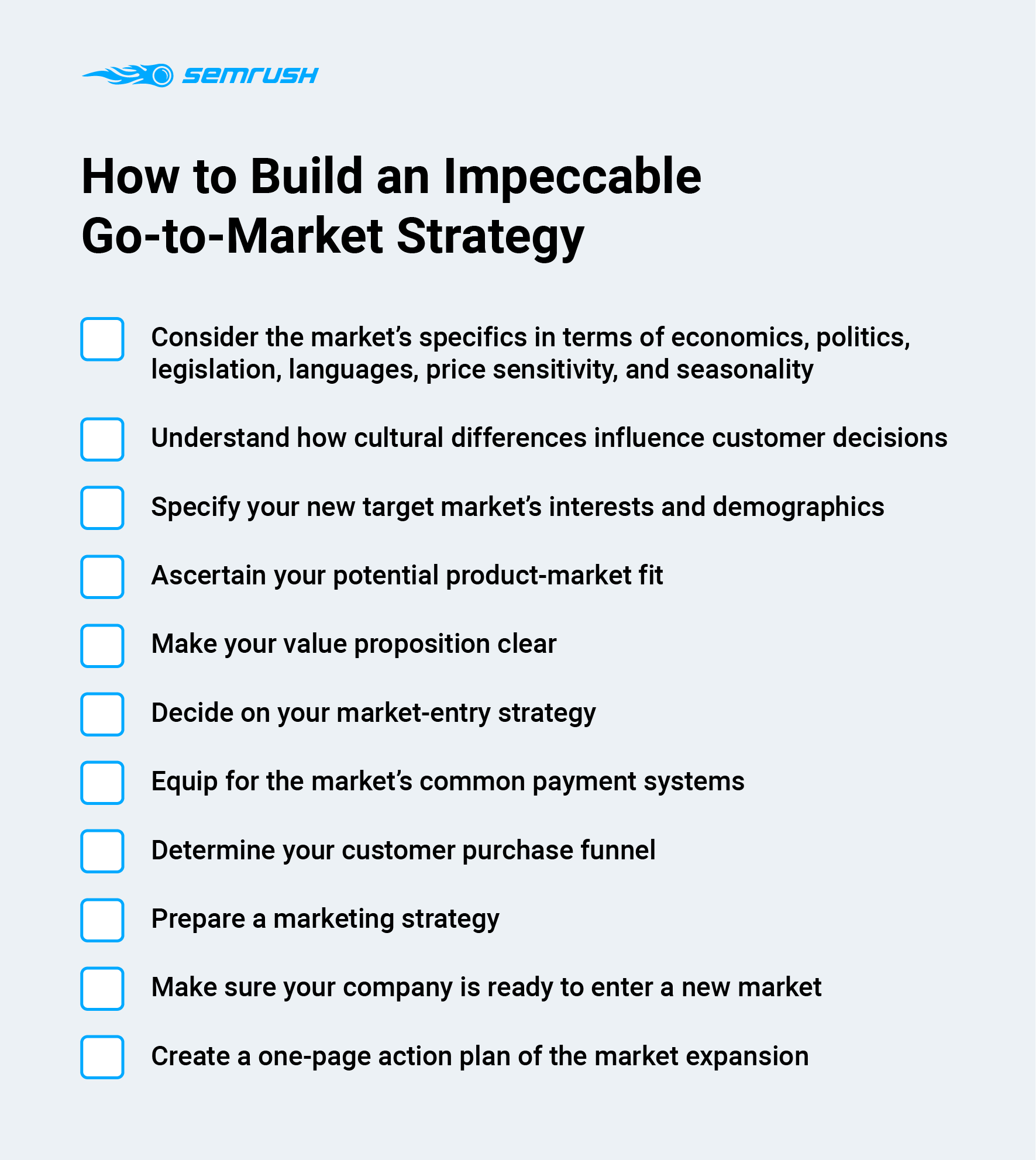 Go-to-Market Strategy Checklist