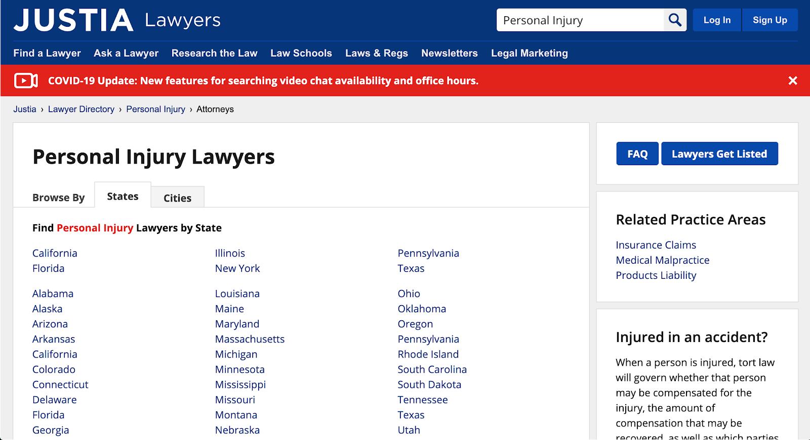 Example of website