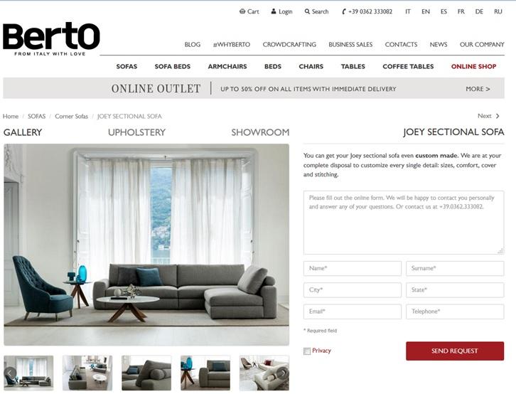 Digital transformation per e-commerce: il caso Berto Salotti